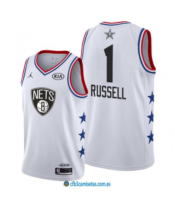 CFB3-Camisetas DAngelo Russell 2019 All Star White