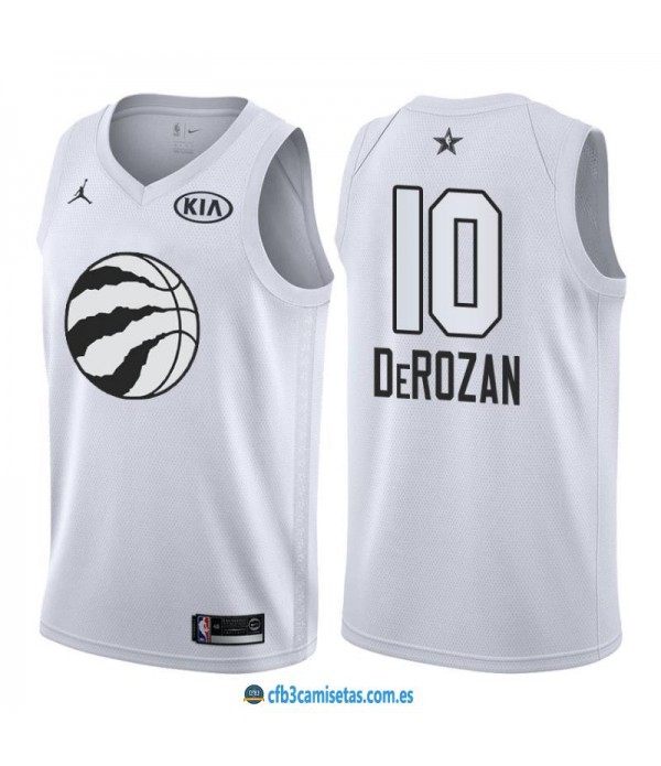 CFB3-Camisetas DeMar DeRozan 2018 All Star White