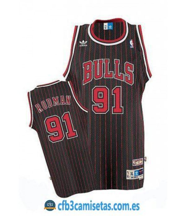CFB3-Camisetas Dennis Rodman Chicago Bulls Rayas