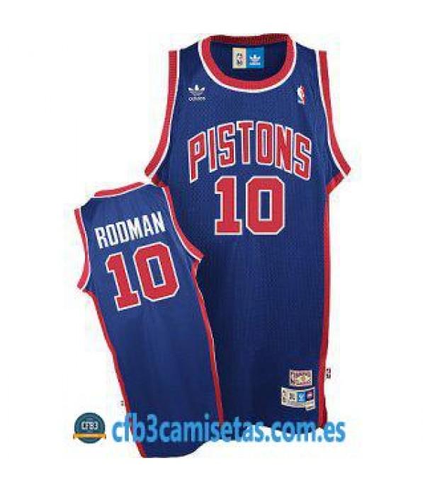 CFB3-Camisetas Dennis Rodman Detroit Pistons Azul