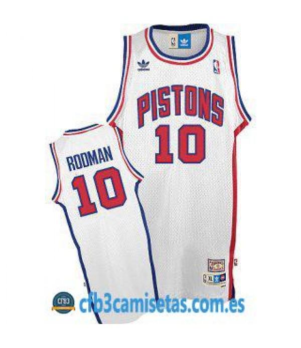 CFB3-Camisetas Dennis Rodman Detroit Pistons Blanco