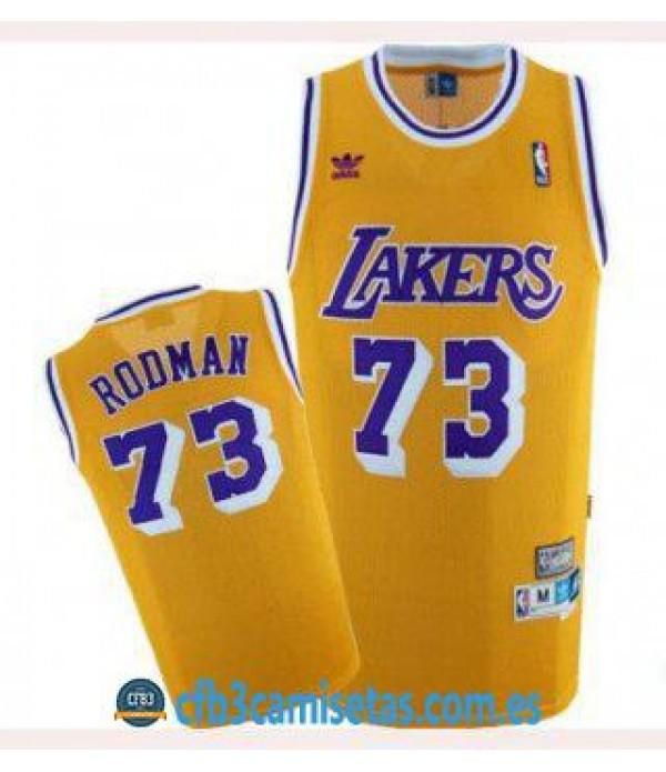 CFB3-Camisetas Dennis Rodman Los Angeles Lakers RE...