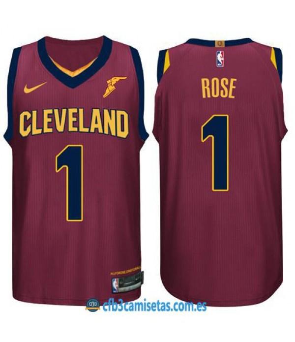 CFB3-Camisetas Derrick Rose Cleveland Cavaliers Ic...