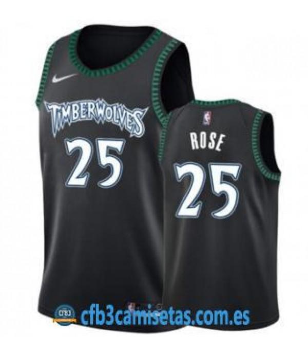 CFB3-Camisetas Derrick Rose Minnesota Timberwolves...