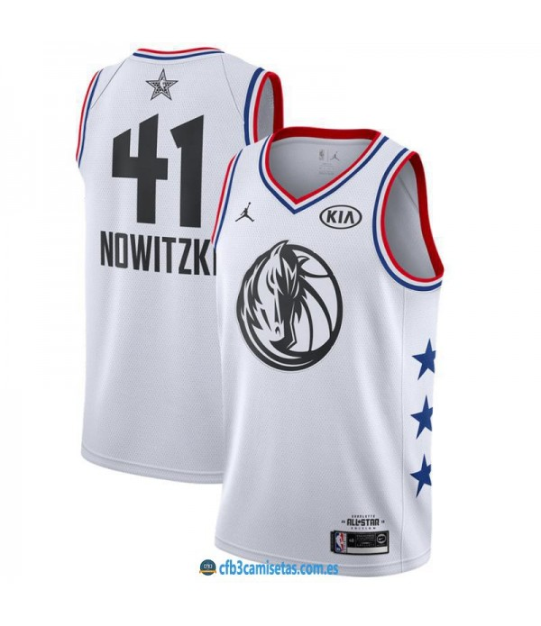 CFB3-Camisetas Dirk Nowitzki 2019 All Star White