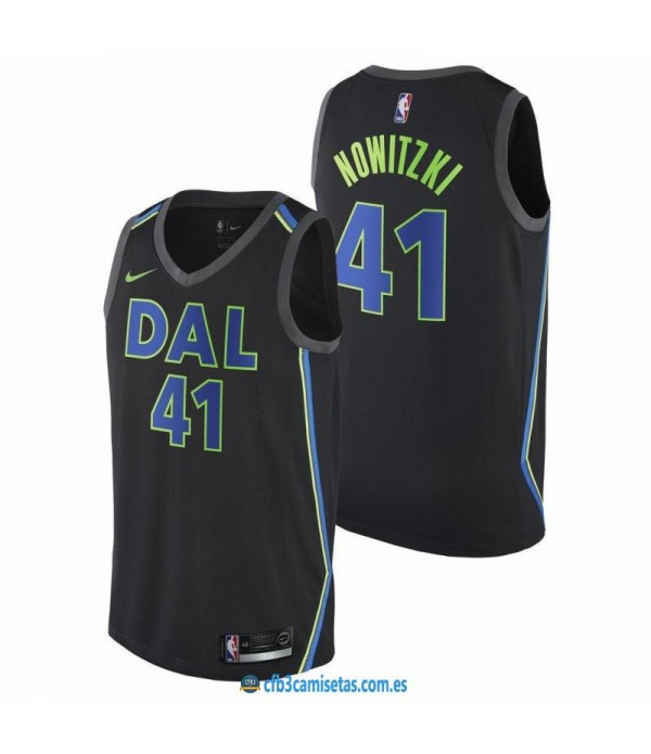 CFB3-Camisetas Dirk Nowitzki Dallas Mavericks City...