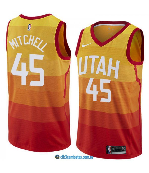 CFB3-Camisetas Donovan Mitchell Utah Jazz City Edi...