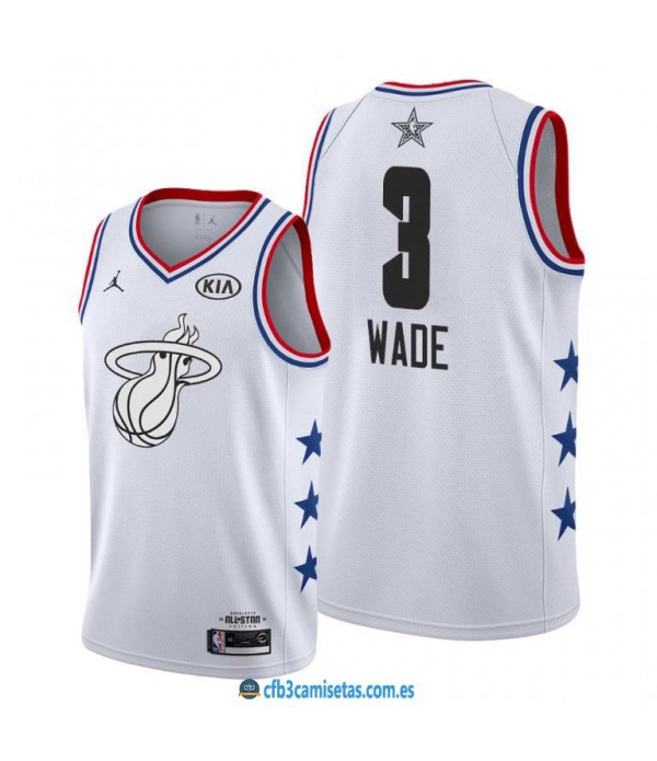 CFB3-Camisetas Dwyane Wade 2019 All Star White