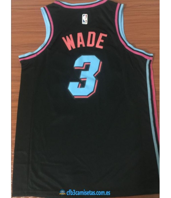 CFB3-Camisetas Dwyane Wade Miami Heat City Edition