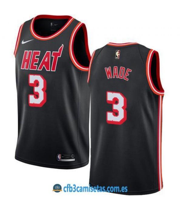 CFB3-Camisetas Dwyane Wade Miami Heat Classic Edit...