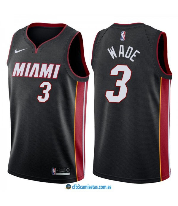 CFB3-Camisetas Dwyane Wade Miami Heat Icon