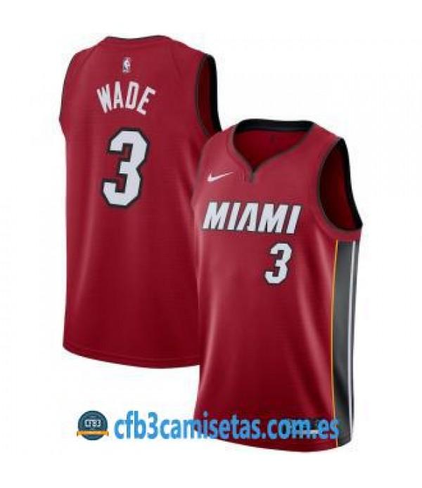 CFB3-Camisetas Dwyane Wade Miami Heat Statement Edition