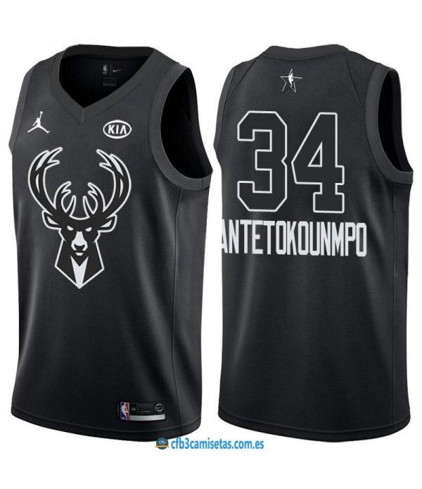 CFB3-Camisetas Giannis Antetokounmpo 2018 All Star Black