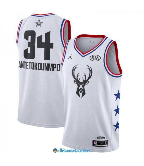 CFB3-Camisetas Giannis Antetokounmpo 2019 All Star White