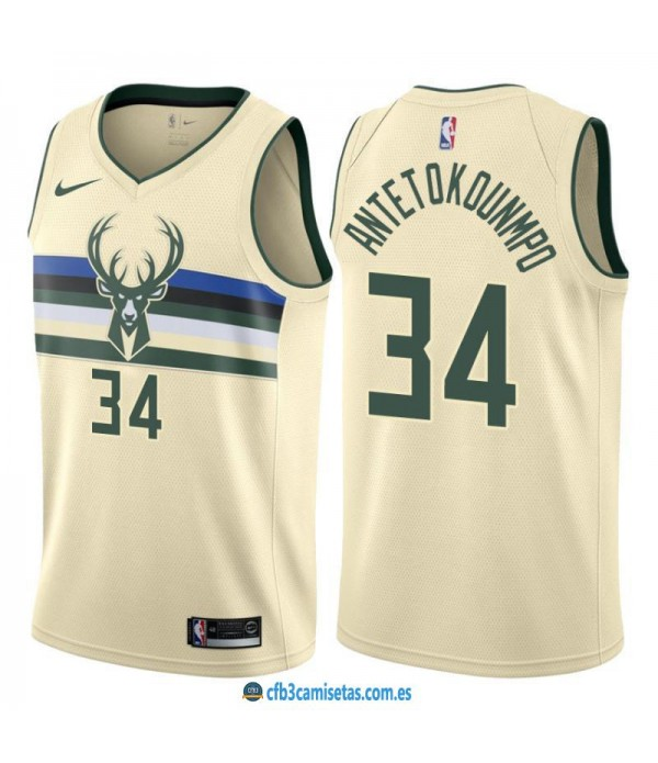 CFB3-Camisetas Giannis Antetokounmpo Milwaukee Bucks City Edition