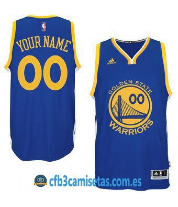 CFB3-Camisetas Golden State Warriors Home PERSONALIZABLE