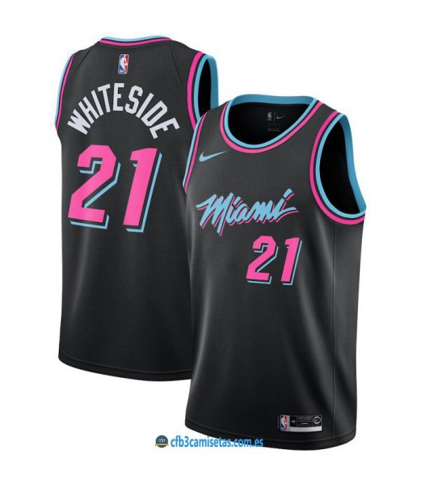 CFB3-Camisetas Hassan Whiteside Miami Heat 2018 2019 City Edition