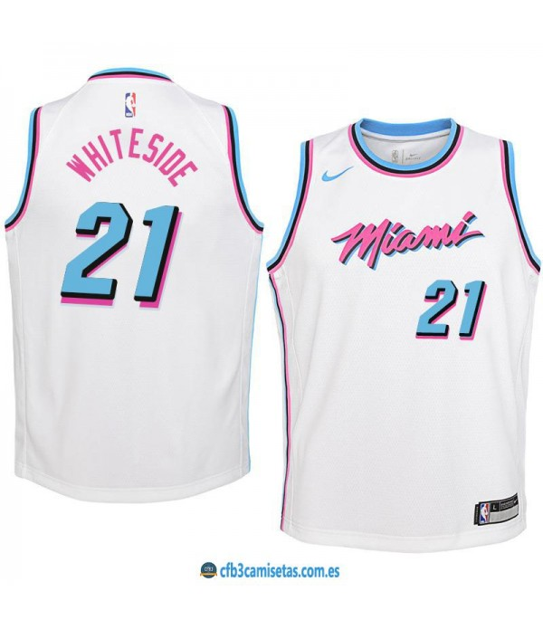 CFB3-Camisetas Hassan Whiteside Miami Heat City Ed...