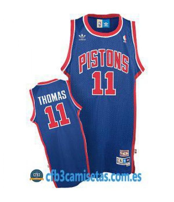CFB3-Camisetas Isiah Thomas Detroit Pistons Azul