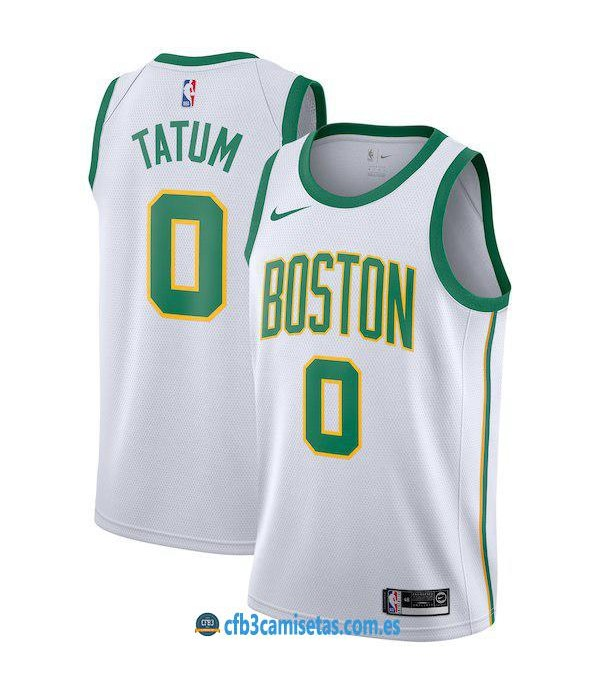 CFB3-Camisetas Jayson Tatum Boston Celtics 2018 2019 City Edition