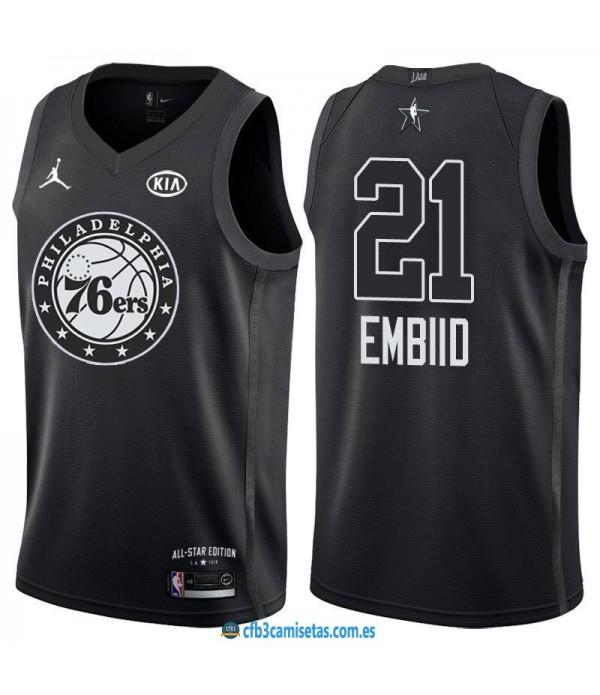 CFB3-Camisetas Joel Embiid 2018 All Star Black