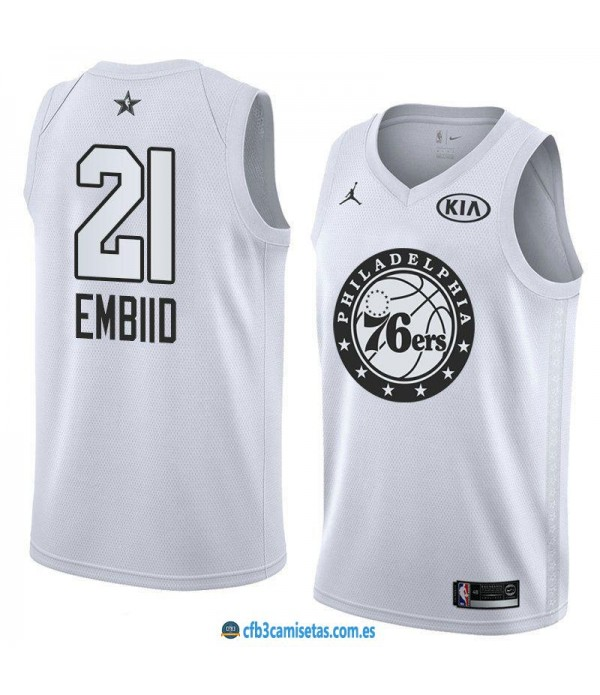 CFB3-Camisetas Joel Embiid 2018 All Star White