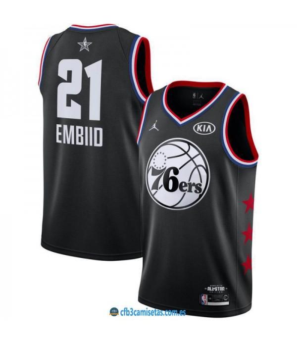 CFB3-Camisetas Joel Embiid 2019 All Star Black