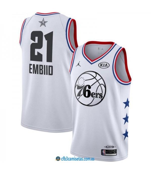 CFB3-Camisetas Joel Embiid 2019 All Star White