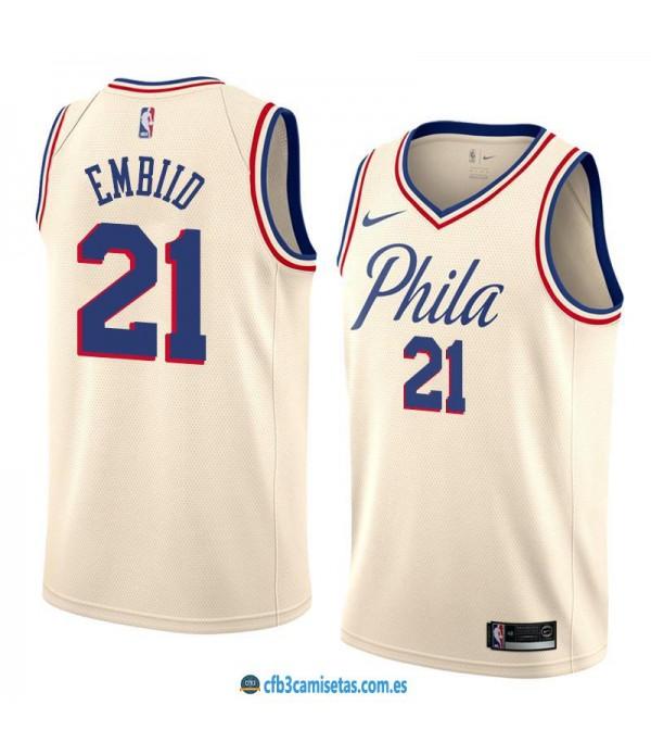 CFB3-Camisetas Joel Embiid Philadelphia 76ers City...