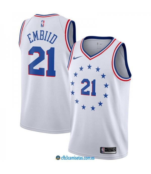 CFB3-Camisetas Joel Embiid Philadelphia 76ers Earned Edition