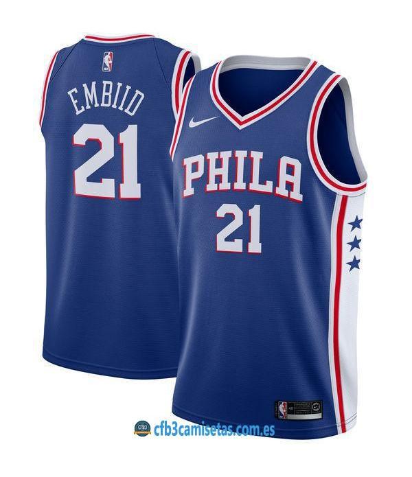 CFB3-Camisetas Joel Embiid Philadelphia 76ers Icon