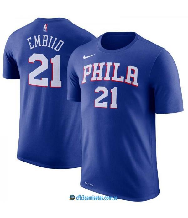 CFB3-Camisetas Joel Embiid Philadelphia 76ers Slee...