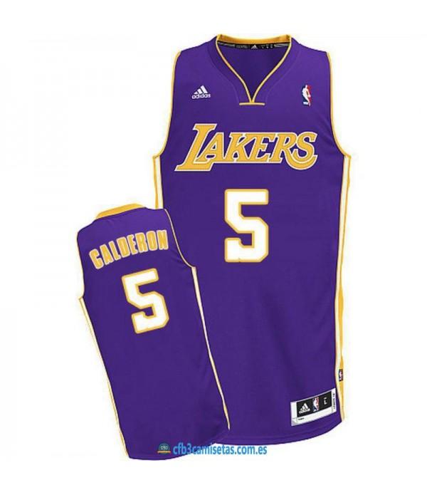 CFB3-Camisetas José Manuel Calderon Los Angeles Lakers Morada