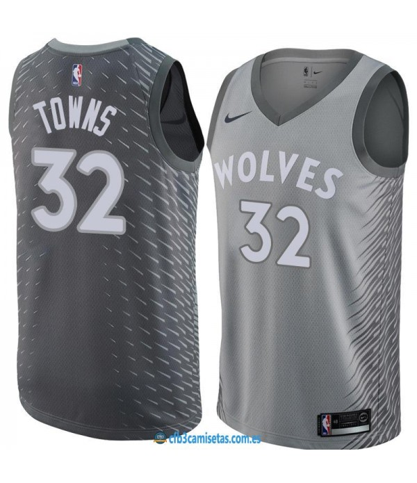 CFB3-Camisetas Karl Anthony Towns Minnesota Timberwolves City Edition
