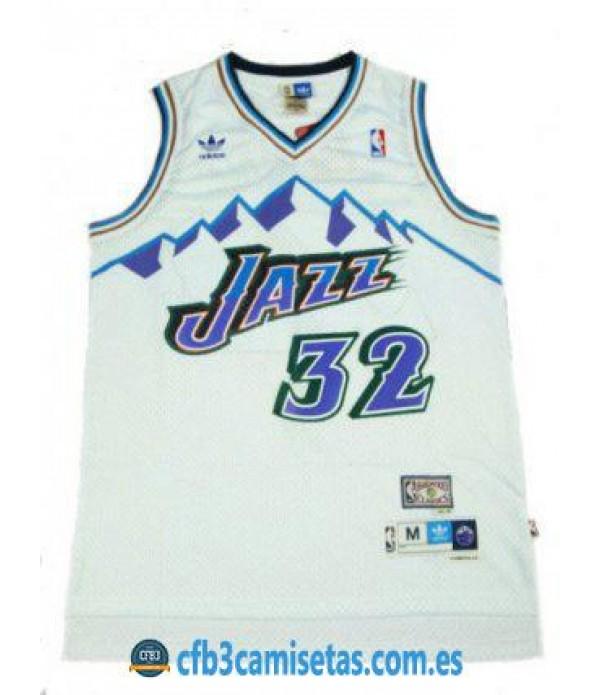 CFB3-Camisetas Karl Malone Utah Jazz Mountains