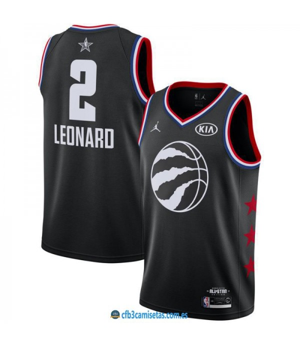 CFB3-Camisetas Kawhi Leonard 2019 All Star Black