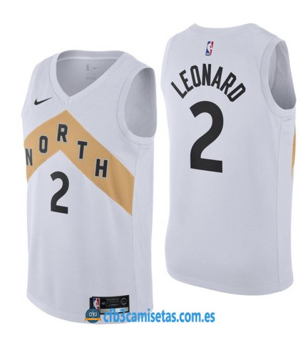 CFB3-Camisetas Kawhi Leonard Toronto Raptors 2018 2019 City Edition