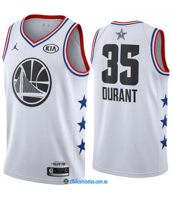 CFB3-Camisetas Kevin Durant 2019 All Star White