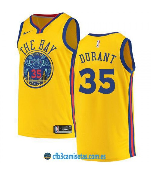 CFB3-Camisetas Kevin Durant Golden State Warriors City Edition