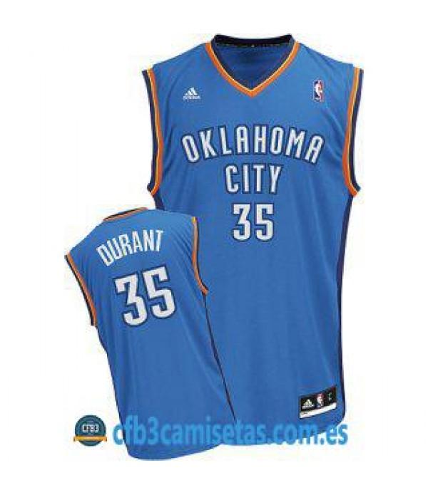 CFB3-Camisetas Kevin Durant Oklahoma City Thunder Azul