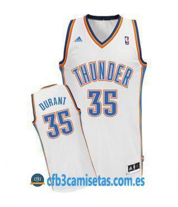 CFB3-Camisetas Kevin Durant Oklahoma City Thunder Blanca
