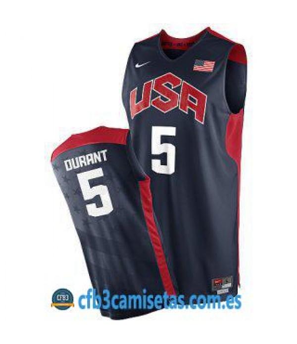 CFB3-Camisetas Kevin Durant Selección USA 2012 Azul