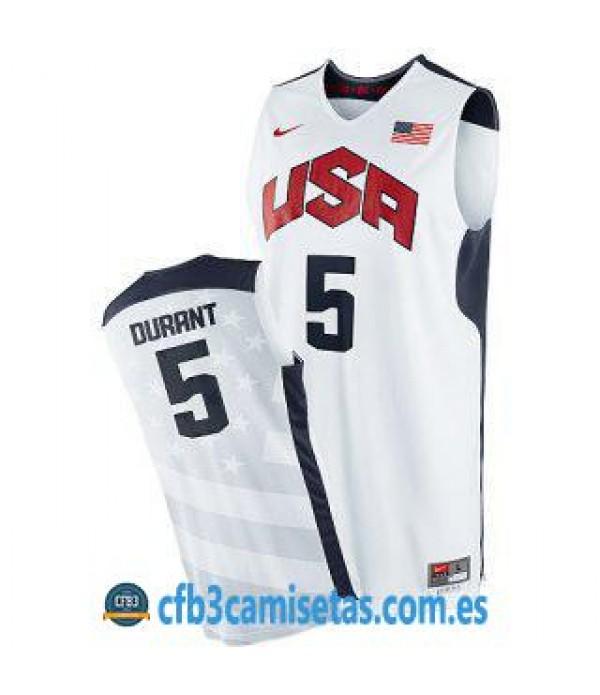 CFB3-Camisetas Kevin Durant Selección USA 2012 Blanco