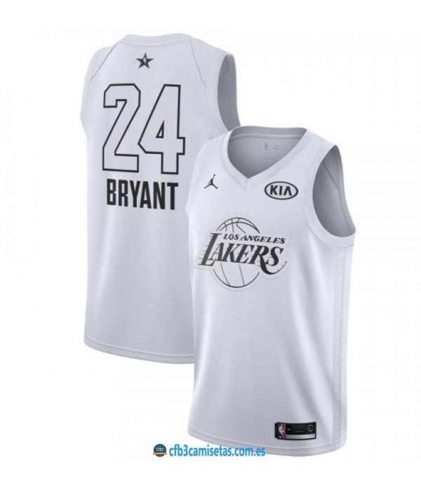 CFB3-Camisetas Kobe Bryant 2018 All Star White