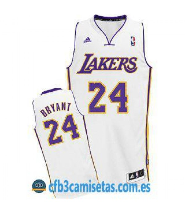 CFB3-Camisetas Kobe Bryant Los Angeles Lakers Blanca