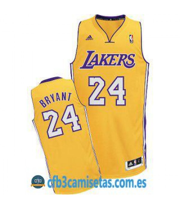 CFB3-Camisetas Kobe Bryant Los Angeles Lakers Dorada