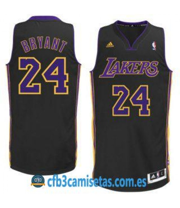 CFB3-Camisetas Kobe Bryant Los Angeles Lakers Negra