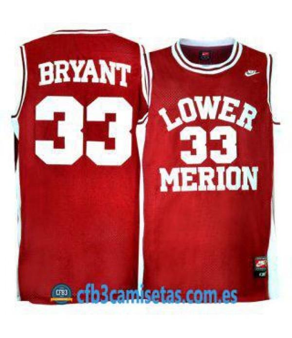 CFB3-Camisetas Kobe Bryant Lower Merion Roja