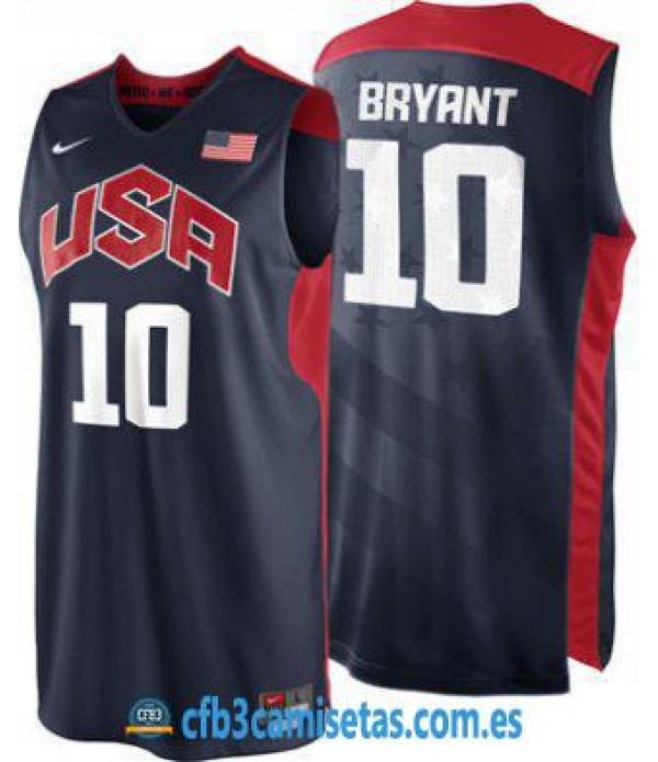 CFB3-Camisetas Kobe Bryant Selección USA 2012 Azul