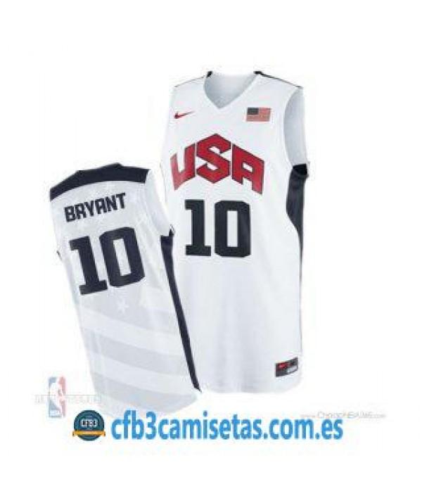 CFB3-Camisetas Kobe Bryant Selección USA 2012 Blanco
